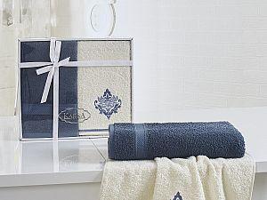 Комплект полотенец Karna Darmoni, синий-саксен
