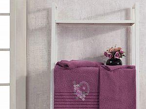 Комплект полотенец Karna Camile, светло-лаванда