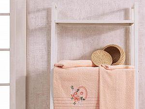 Комплект полотенец Karna Camile, абрикосовый