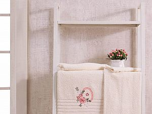 Комплект полотенец Karna Camile, кремовый