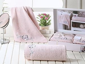 Комплект полотенец Karna Suena, пудра