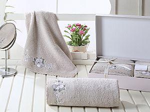Комплект полотенец Karna Suena, бежевый