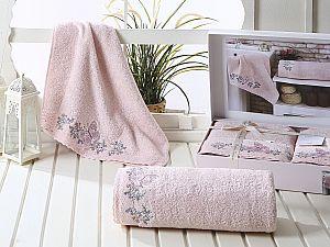 Комплект полотенец Karna Lavore, пудра