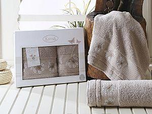Комплект полотенец Karna Bianca, бежевый