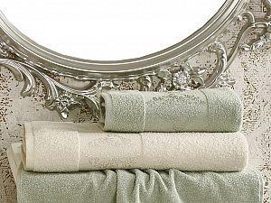 Комплект полотенец Karna Dora, кремовый и зеленый арт. 2152/char003