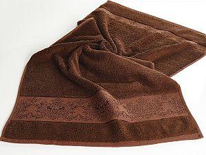 Полотенце Karna Pandora-3 50х90 см, тёмно-коричневое