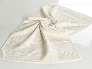 Полотенце Karna Pandora-3 50х90 см, молочное