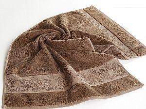 Полотенце Karna Pandora-3 70х140 см, коричневое