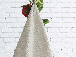 Полотенце Karna Lauren 70х140 см, кремовое