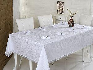 Скатерть Evdy Kdk с салфетками 160х220 см, белая
