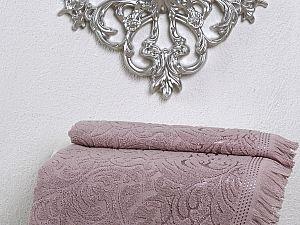 Полотенце Karna Esra 50х90 см, грязно-розовое