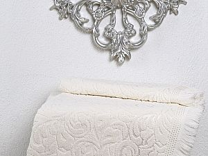 Полотенце Karna Esra 50х90 см, кремовое