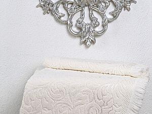 Полотенце Karna Esra 70х140 см, кремовое