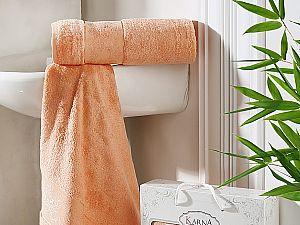 Комплект полотенец Karna Pandora, коралловый