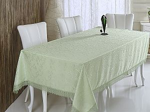 Скатерть Verolli Kdk 160х220 см, зеленая