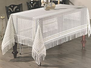 Скатерть Verolli Lez 160х350 см, белая