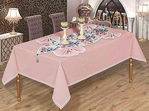 Скатерть Verolli Linen Set 160х220 см, с салфетками, пудра