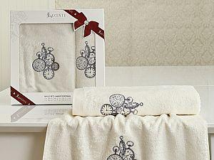 Комплект полотенец Lucente Lancetta, кремовый