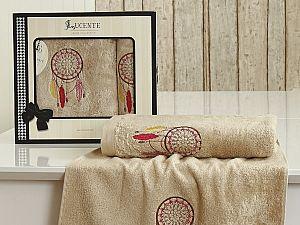 Комплект полотенец Lucente Piuma, бежевый