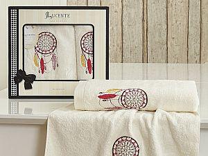 Комплект полотенец Lucente Piuma, кремовый