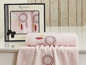 Комплект полотенец Lucente Piuma, розовый