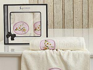 Комплект полотенец Lucente Mangolia, кремовый