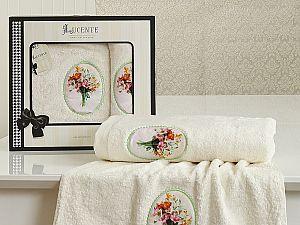 Комплект полотенец Lucente Lilyum, кремовый