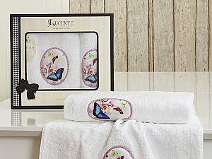 Комплект полотенец Lucente Farfalla, белый