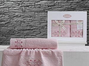 Комплект полотенец Karna Galata, розовый