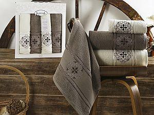 Комплект полотенец Karna Seher, стоне арт. 2352/char005