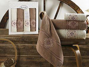 Комплект полотенец Karna Seher, грязно-розовый арт. 2352/char002