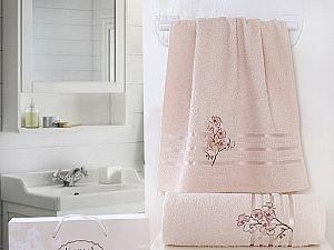 Комплект полотенец Karna Papilon, светло-абрикосовый арт. 2353/char003