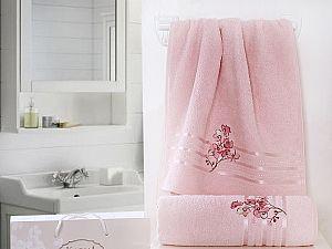 Комплект полотенец Karna Papilon, светло-розовый арт. 2353/char005