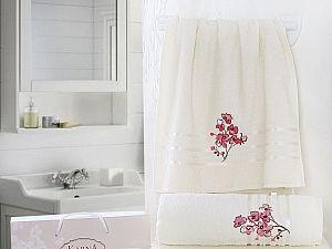 Комплект полотенец Karna Papilon, кремовый арт. 2353/char001