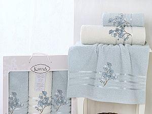 Комплект полотенец Karna Papilon, ментол арт. 2354/char002