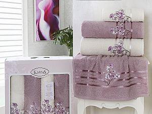 Комплект полотенец Karna Papilon, светло-лаванда арт. 2355/char004