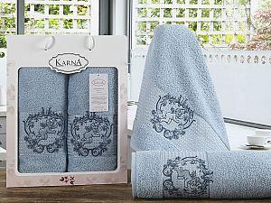 Комплект полотенец Karna Claris, светло-голубой