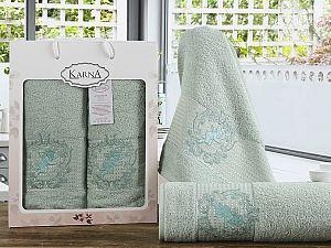 Комплект полотенец Karna Claris, светло-зеленый