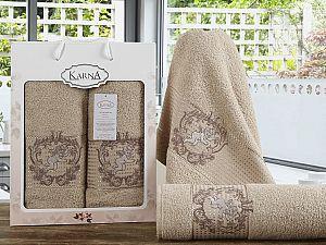 Комплект полотенец Karna Claris, бежевый