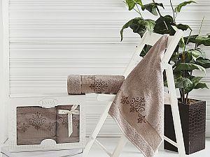 Комплект полотенец Karna Victory, кофейный арт. 2382/char004