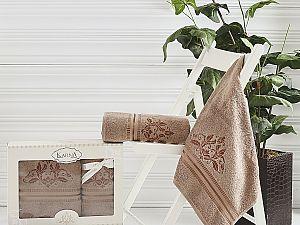 Комплект полотенец Karna Agra, коричневый