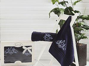 Комплект полотенец Karna Agra, синий