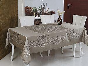 Скатерть Monalit Linen 160х220 см, коричневый