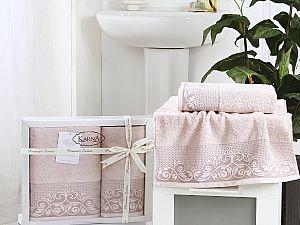 Комплект полотенец Karna Beyza, пудра
