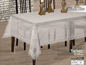 Скатерть Verolli Moda Lez 160х220 см, белая
