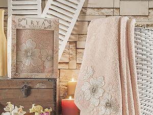 Полотенце Irya Pearly 85x150 см, абрикосовое