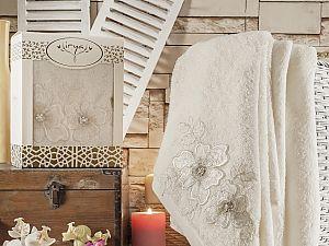 Полотенце Irya Pearly 85x150 см, молочное