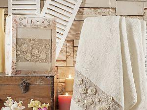 Полотенце Irya Heaven 85х150 см с гипюром, молочное