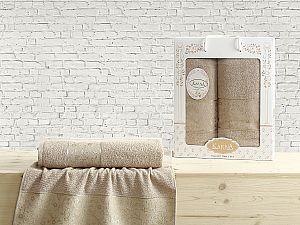 Комплект полотенец Karna Diana, кофейный