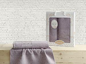 Комплект полотенец Karna Diana, светло-фиолетовый